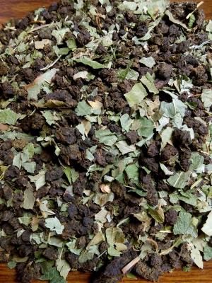 Иван-чай с листьями смородины и вишни